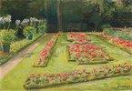 Die Blumenterrasse im Wannsee-Garten nach Süden