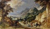 Landschaft mit der Bekehrung des Paulus. Wohl 1620er