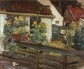 Garten mit Sonnenblumen