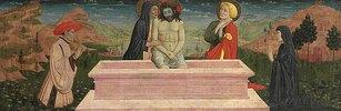 Imago pietatis mit Maria und Johannes und einem Stifterpaar