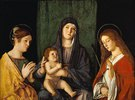 Maria mit dem Kind zwischen zwei Heiligen