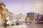 Die Rialto Brücke in Venedig