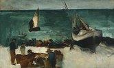 Fischer bei ihren Booten