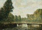 Kleine Brücke über den Fluss Orvanne