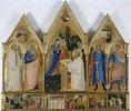 Die Jungfrau erscheint dem hl. Bernhard von Clairvaux und anderen Heiligen