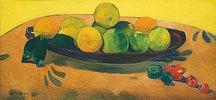Stillleben mit Früchten und Peperoni