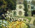 Herrenhaus in einem Garten