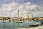 Venedig, Blick auf San Marco und den Campanile. Juni