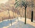 Schneelandschaft im Bois den Boulogne