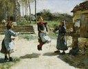 Mädchen beim Seilspringen (Gamines Sautant la Corde)