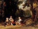 Kinder bei der Hopfenernte. 1835(?)