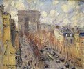 L'Avenue de Friedland, Paris, an einem bewölkten Tag