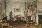 Ansicht des Schlafzimmers, in dem Napoleon III starb, Camden Place, Chislehurst, Kent