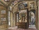 Das Frühstückszimmer mit Blick in die Diele und das Treppenhaus, Sir John Soane's Museum, 13 Lincoln's Inns Fields