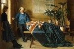 Vorbereitungen für den Krönungstag in Chichester. (Die betreffende Krönung ist die von Edward VII. 1902)