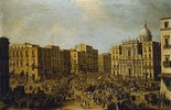 Platz mit San Ferdinando in Neapel, Ankunft einer königlichen Kutsche