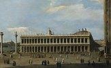 Die Biblioteca Marciana und die Piazzetta in Venedig