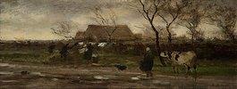 Landschaft (Nasses Wetter). Ende der 1870er Jahre