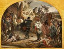 Die Begegnung Friedrich II. mit General Zieten bei Torgau 1760