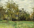 Ludovic Piettes Haus in Montfoucault. 1874 (Die Farm gehörte Pissarros Freund Ludovic Piette und lag in der Nähe des Dorfes Foucault.)