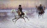 Napoleon mit Reitergruppe