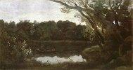 Der Teich von Ville d'Avray am Abend