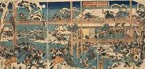 Die Rache der herrenlosen Samurai: Die Feier am Grab des Fürsten Enya (Aus dem Chushingura)