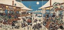 Die Vollmondnacht des Angriffs der getreuen Samurai (Elfter Akt aus dem Kabuki-Schauspiel Vorlage zur Schönschrift: Ein Schatzhaus von getreuen Samurai)