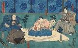 Fürst Enya richtet sich selbst (Vierter Akt aus dem Kabuki-Schauspiel Vorlage zur Schönschrift: Ein Schatzhaus von getreuen Samurai)