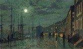 Docks bei Mondlicht