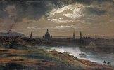 Blick auf Dresden bei Abend