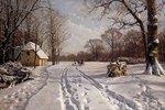 Eine Schlittenfahrt durch eine Winterlandschaft
