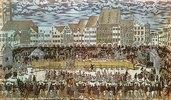 Vermählung Wilhelms V. von Bayern mit Renate von Lothringen. Ritterturnier auf dem Marienplatz