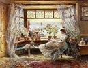 Lesende am Fenster