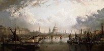 Die Themse von der Hungerford Bridge aus