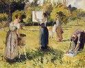 Waschfrauen in Eragny (Studie)