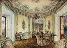Innenanischt eines Salons des Schlosses Oberwaltersdorf