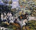 Scène Légendaire (Die Figur auf dem Pferd soll Sancho Panza, der Begleiter von Don Quichotte sein)