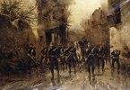 Die zweite kaiserlich-preußische Fußgarde erreicht Paris