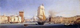 Die Hafeneinfahrt von Konstantinopel