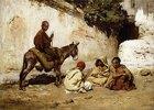 Arabische Kinder beim Kartenspiel