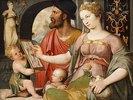 Allegorie der Malerei: Pictura fertigt eine Zeichnung nach der Antike an