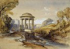 St Bernard's Well, Water of Leith, nahe Edinburgh, Schottland