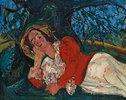 Die Siesta - Frau unter einem Baum liegend (La sieste - Femme entendue sous un arbre)
