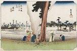 Winter-Ansicht, Hamamatsu. Aus der Serie 'Die 53 Stationen des Tokaido'