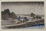 Night Rain at Azuma Shrine. From the series 'Eight Views of the Environs of Edo'