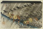 Driving Rain, Shono. From the series 'The Fifty Three Stations of the Tokaido'