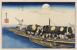 Der Fluß Yodo. Aus der Serie 'Berühmte Ort Kyotos'