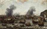 Die Schlacht bei Gibraltar am 25. April