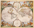 Weltkarte 'Nova Orbis Tabula in Lucem Edita. Amsterd